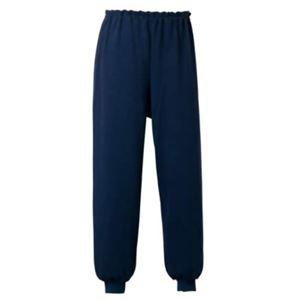 スクウェアニット裾リブ付き全開ズボン ネイビー L 5111 - 拡大画像
