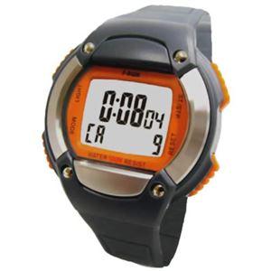 F-RUN ハートメーター カロリー計算機能付 10気圧防水 HC00WRG オレンジ - 拡大画像