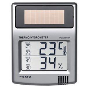 ソーラーデジタル温湿度計 PC-5200TRH - 拡大画像