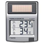 ソーラーデジタル温湿度計 PC-5200TRH