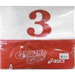 アシックス グラウンドゴルフ 旗両面タイプ GGG063 23レッド No3