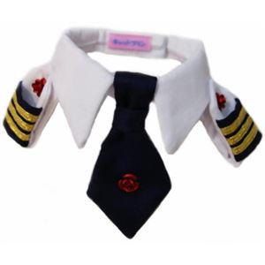 レディースにゃん襟章ネクタイシャツ ローズ - 拡大画像