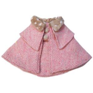 レイチェルちゃんの英国風コート (ピンク) - 拡大画像