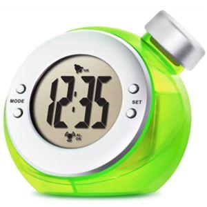 ベルソス ウォーター バッテリー アラームクロック(目覚まし時計) グリーン VS-302 - 拡大画像