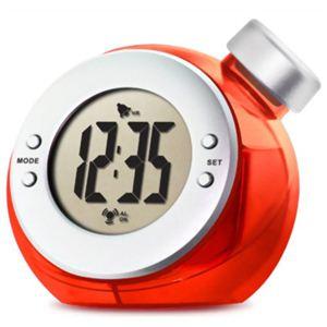 ベルソス ウォーター バッテリー アラームクロック(目覚まし時計) レッド VS-302 - 拡大画像