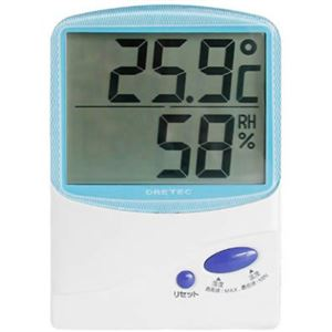 【訳あり・在庫処分】ドリテック デジタル温湿度計 ブルー O-206BL