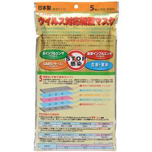 (まとめ買い)ウイルス対応新型マスク PM2.5対応 5層構造 個包装 5枚入×4セット
