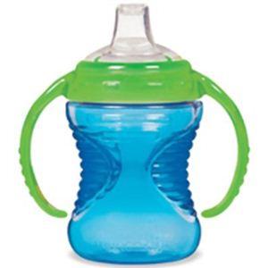 マンチキン しっかり握れるハンドル付きスパウトボトル マイティグリップ トレーナーカップ 12333049 ブルー - 拡大画像