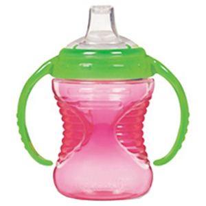 マンチキン しっかり握れるハンドル付きスパウトボトル マイティグリップ トレーナーカップ 12333050 ピンク - 拡大画像