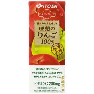 【ケース販売】ビタミンフルーツ 理想のりんご 紙200ml×24本 - 拡大画像