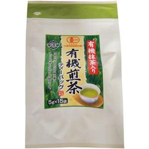 播磨園 有機 抹茶入り煎茶ティーバッグ 5g×15p - 拡大画像
