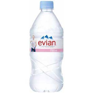 エビアン(evian) ナチュラルミネラルウォーター 750ml×12本入り(正規輸入品) - 拡大画像