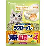 (まとめ買い)1週間消臭・抗菌デオトイレ 飛び散らない消臭・抗菌サンド 4L×3セット