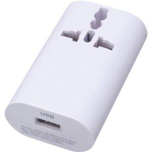 ヤザワ 海外旅行用 マルチ変換プラグ USB付 HPM4WH - 拡大画像