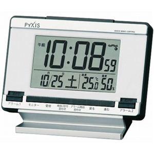 セイコー ピクシス 電波目ざまし時計 NR529S - 拡大画像