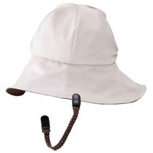 岡田美里プロデュース mili millie 風の日もかぶれる帽子 ベージュ - 拡大画像
