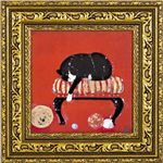 ユーパワー ドミンゲス ゲル加工アートフレーム 子猫の毛糸 Sサイズ DO-04306
