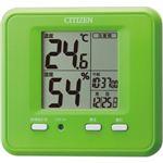 シチズン 温度・湿度計 緑 8RD203-005
