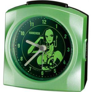 リズム時計 キャラクタークロック ワンピース ボア・ハンコック グリーンパール色(集光樹脂) 4SE436MN05 - 拡大画像