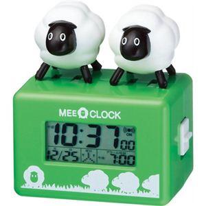 リズム時計 キャラクタークロック メェークロック 緑 8RDA49RH05 - 拡大画像