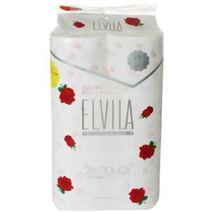 エルビラ フレグランストイレットペーパー バラの香り 12R(ダブル) - 拡大画像