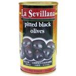 (まとめ買い)ラ・セビリアーナ ブラックオリーブ種抜き 350g×4セット