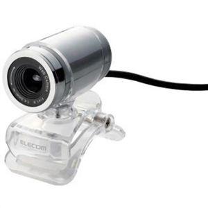 エレコム Webカメラ ガラスレンズ搭載 200万画素 イヤホンマイク付 シルバー UCAM-DLA200HSV