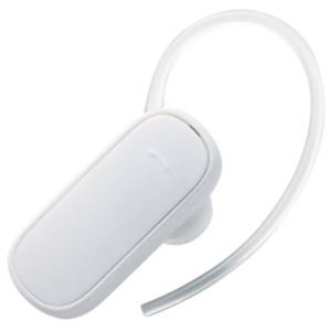 ロジテック Bluetoothヘッドセット ホワイト LBT-MPHS05WH - 拡大画像