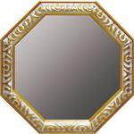 ユーパワー アンティーク八角ミラー Lサイズ AM-05025 ゴールド/アンティークホワイト