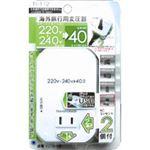 カシムラ 海外旅行用変圧器2口+USB 40VA TI-112