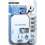 カシムラ 海外旅行用変圧器2口+USB 120VA TI-113