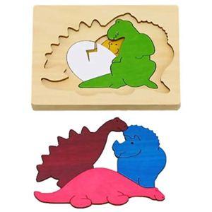 ジョージ・ラック 3重パズル 恐竜 - 拡大画像