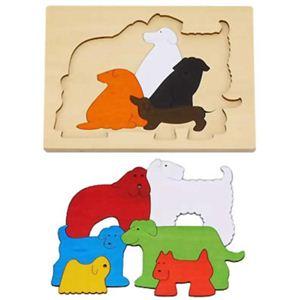ジョージ・ラック 2重パズル 犬たち - 拡大画像