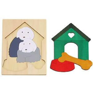 ジョージ・ラック 2重パズル 犬小屋 - 拡大画像
