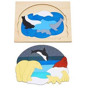 ジョージ・ラック 2重パズル 北極 - 拡大画像
