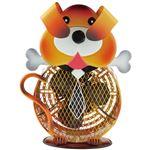 フカダック インテリアメタルミニファン(扇風機) イエロー 犬 FC-7001