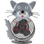 フカダック インテリアメタルミニファン(扇風機) グレー 猫 FC-7003