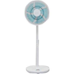 アイリスオーヤマ リビング扇風機(DCモーター式/上下左右自動首振り/リモコン式) EFB-32DHR-30-W/A ホワイト/ブルー - 拡大画像