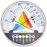 ドリテック 熱中症・インフルエンザ警告温湿度計 ホワイト O-311WT