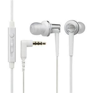 エレコム スマートフォン用高音質ステレオヘッドホンマイク EHP-CS3560MWH ホワイト - 拡大画像