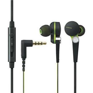 エレコム スマートフォン用高音質ステレオヘッドホンマイク(耳栓タイプ) EHP-CS3570BK - 拡大画像
