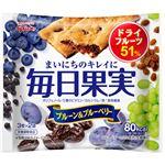 (まとめ買い)グリコ 毎日果実 ブルーベリー&ブルーベリー 6枚入×10個×2セット