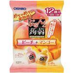 (まとめ買い)オリヒロ ぷるんと蒟蒻ゼリー パウチ ピーチ+マンゴー 20g×12個入×15セット
