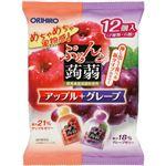 (まとめ買い)オリヒロ ぷるんと蒟蒻ゼリー パウチ アップル+グレープ 20g×12個入×15セット