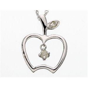 K18 ダイヤモンドモチーフペンダント 661201-05019 ホワイトゴールド アップルの写真2