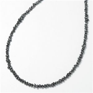 K18WGブラックダイヤ15ctラフカットネックレス  - 拡大画像