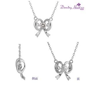 クロスフォーDancing Heart(ダンシングハート) DH-005 【Pretty Ribbon】 ダイヤモンドペンダント/ネックレス h03