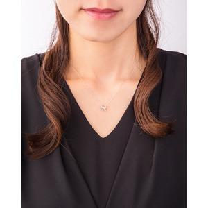 クロスフォーDancing Heart(ダンシングハート) DH-005 【Pretty Ribbon】 ダイヤモンドペンダント/ネックレス f04