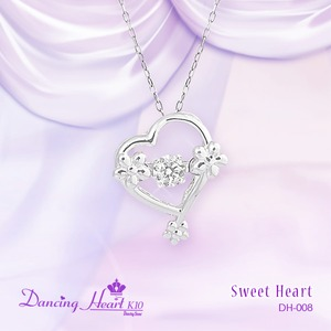 クロスフォーDancing Heart(ダンシングハート)  DH-008  【Sweet Heart】 ダイヤモンドペンダント - 拡大画像