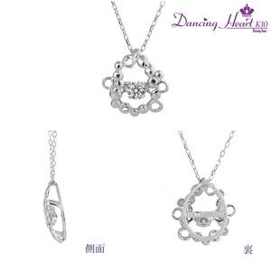 クロスフォーDancing Heart(ダンシングハート) DH-011 【Bubble】 ダイヤモンドペンダント/ネックレス h03